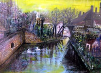 小林古い運河の町並み