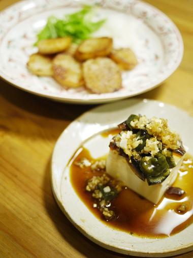 「深夜食堂」のピータン豆腐と長芋のソテー