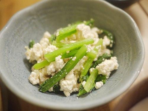 甘くない小松菜の白和え