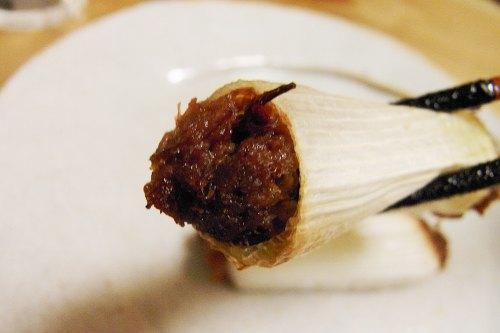 ネギのコンビーフ詰め焼き
