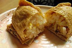 3月のライオン 卵とレンコンのいなり寿司