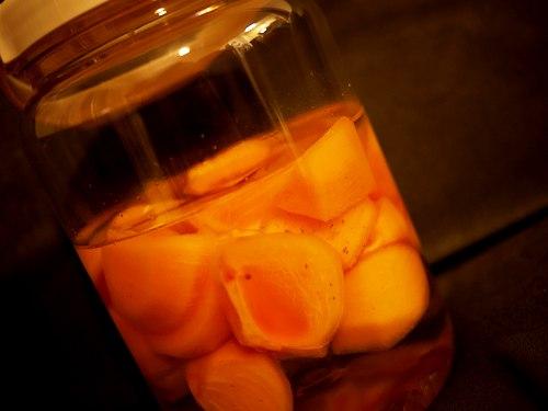 柿のラム酒漬