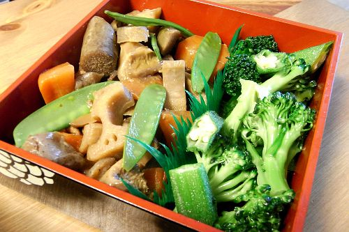 3月のライオン 野菜のお重