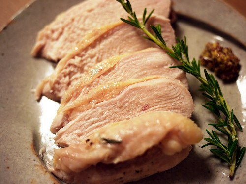 「…すぎなレボリューション」(小池田マヤ)の地鶏のローズマリー風味塩がま風グリル