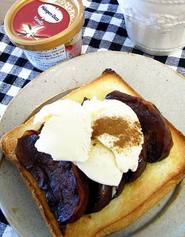 キャラメルりんごトースト
