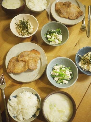 「きのう何食べた?」(よしながふみ)豚肉のみそ焼き、白菜とホタテのクリームスープ ほか