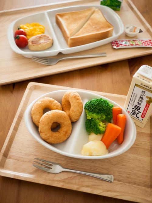 「BEASTARS」(板垣巴留)の肉食用&草食用の朝食メニュー