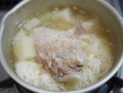小鍋で温める