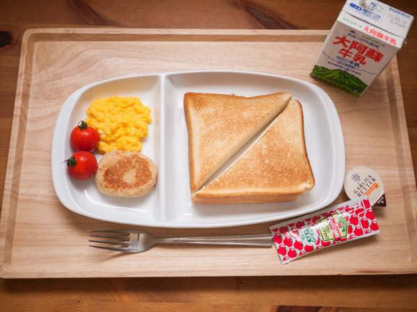 肉食用の朝食