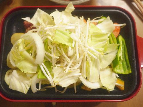 野菜を乗せる