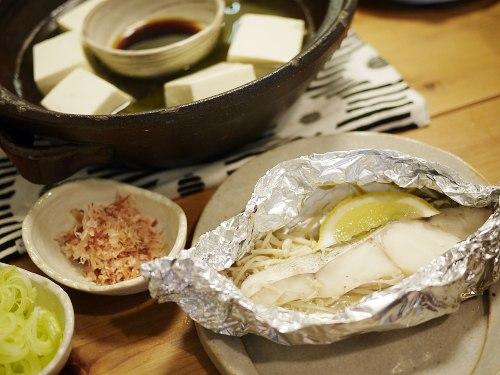 湯豆腐とタラ