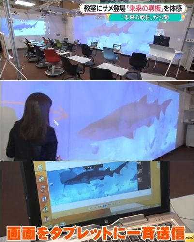 サメ 黒板