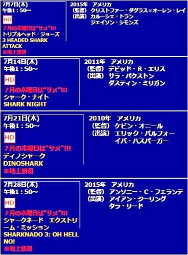 """7月の木曜日は""""サメ""""!!!"""