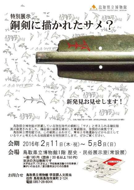 特別展示「銅剣に描かれたサメ?」