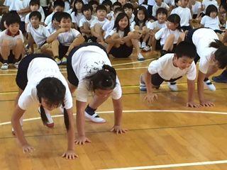 原小学校体幹遊び