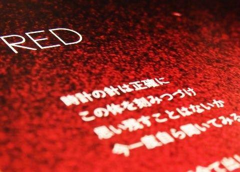 REDの歌詞カード