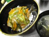 木曜日 西野 魚フライあんかけ丼