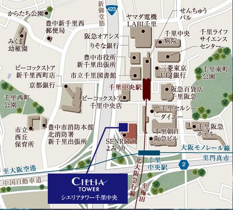 千里中央 地図