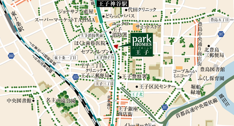 王子 地図