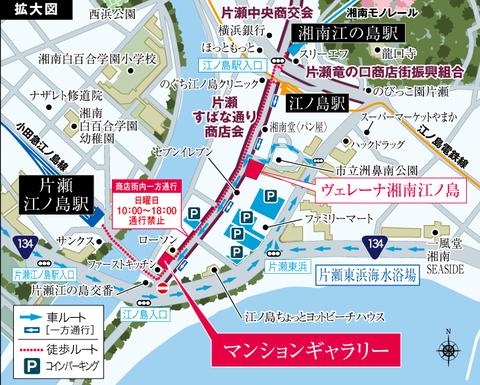片瀬江ノ島 地図