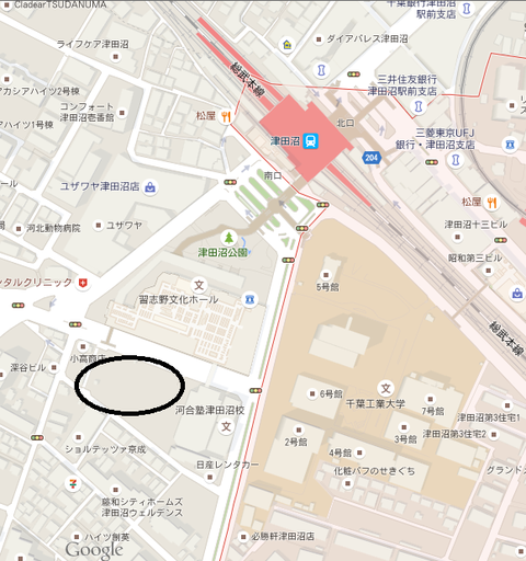 津田沼 地図