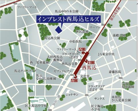 西馬込 地図