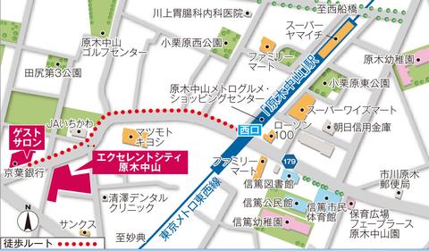 原木中山 地図