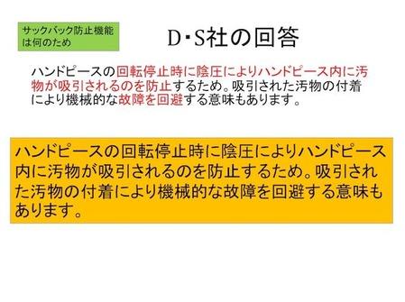 サックバック防止機構は何のためD・S社社回答