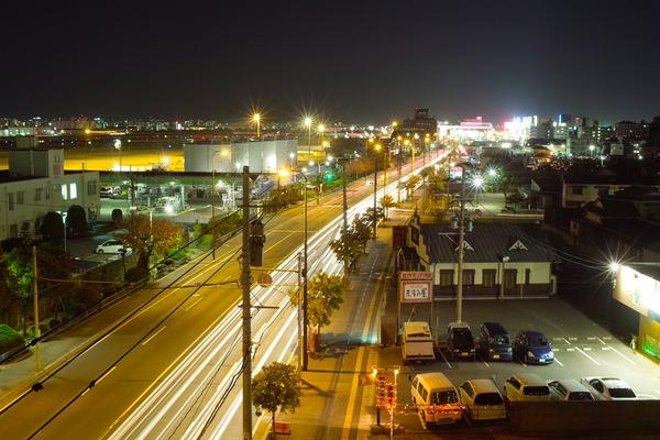 「SIGMA DP2s」で福岡空港付近の夜景を撮ってみた。