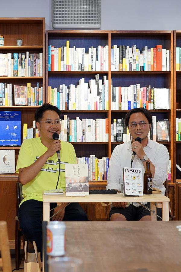 """「Rethink Books」で 松村貴樹氏×山田祐一郎氏のトークショー。テーマは""""いいお店のつくり方""""。"""