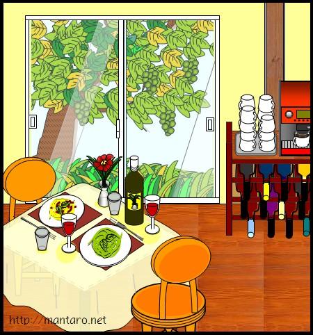 農家さんのイタリアンレストラン(エクセル画)