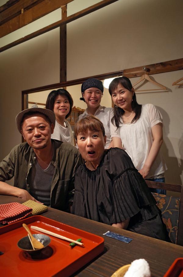 中央区清川の某和食店にて「かもめ食堂」の打ち上げ。