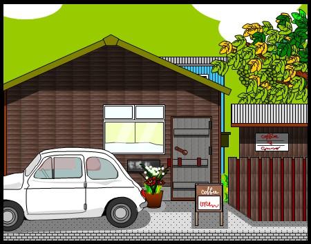 志免町の三連小屋(エクセル画)