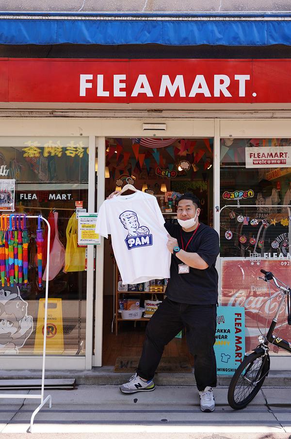 美野島商店街【FLEAMART.】でTシャツ買って【江上食品】【山口園】【ヨシダシェイカー】。夜は【カレバカカレー】食べて『カレバカラジオ』の生放送へ。