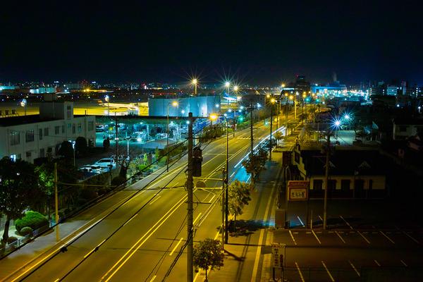 「SIGMA DP2s」で福岡空港付近の夜景を撮ってみた。(その2)