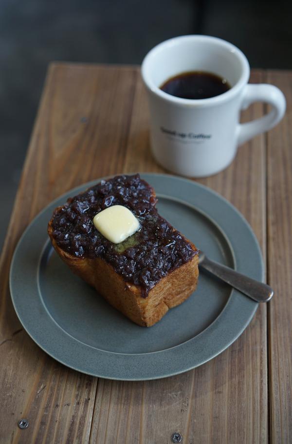 夕方「Good up Coffee」で自家製あんこトースト、からの「おまめ」で晩ご飯。昼は「バソキ屋 西月隈店」で麺焼きそば。