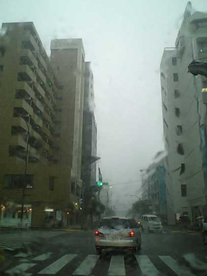 集中豪雨?