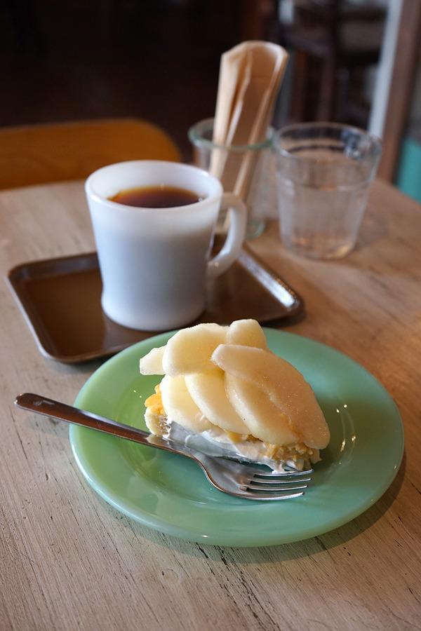 久留米「3po cafe.home」で洋梨のタルトとイルガチェフェ。