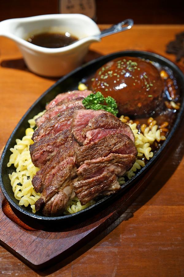 東区箱崎「はこざきランプ」でステーキとハンバーグとプリンと珈琲。