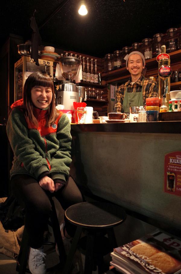 "「MIMATSU Specialty Coffee Roaster」でコダマちゃん。「中華そば かなで」で""貝だし塩ラーメン""。"