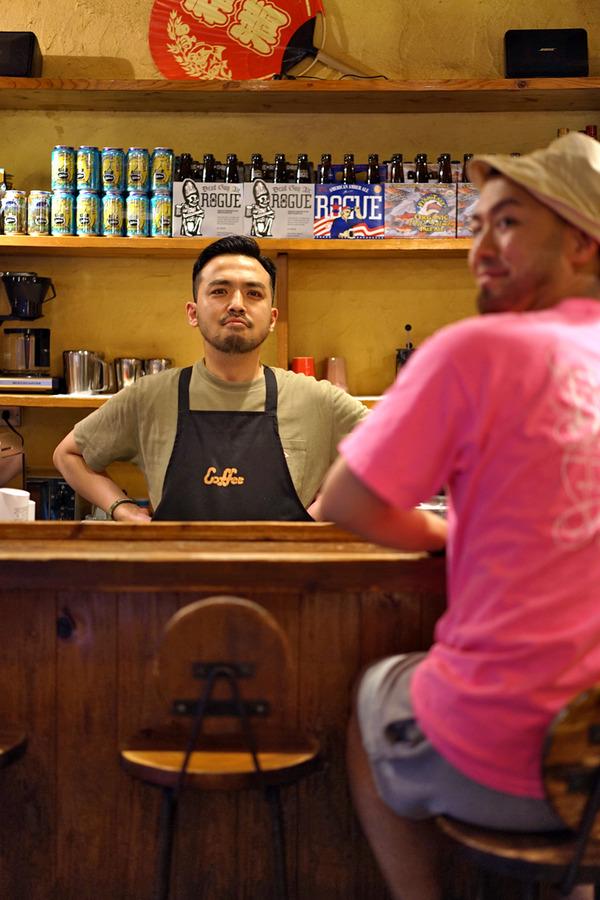 「manu coffee 春吉店」「夜TIKI」「Pin」「みやうら商会」な一日。