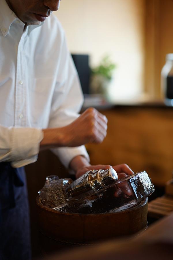 南区「手音」で美味しいアイス珈琲。