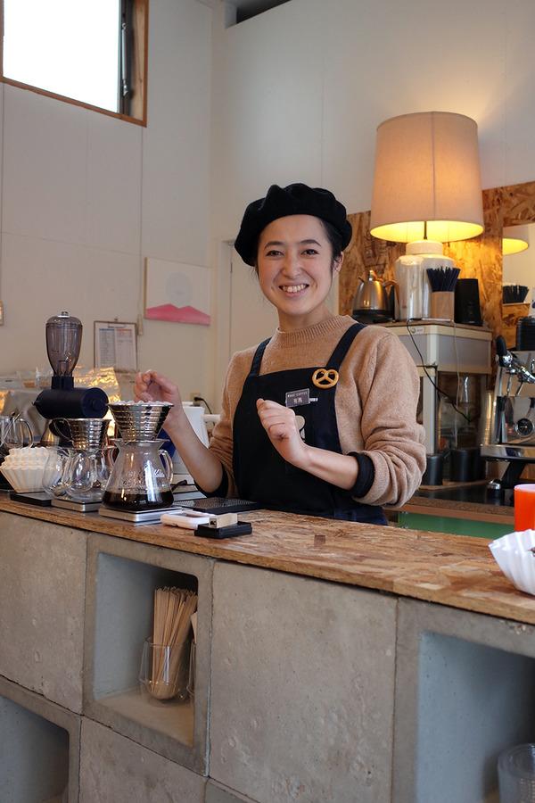 "「REC COFFEE 清川スタンド」で有馬バリスタと""清川シュー""。"
