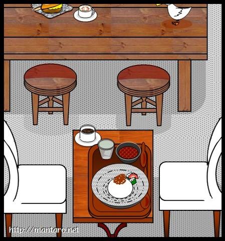 家鴨軒のカレー(エクセル画)