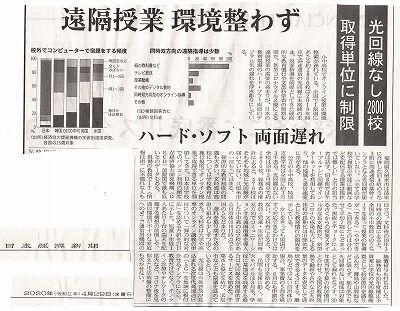 日経新聞・オンライン授業の課題_NEW