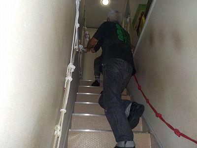 階段ロープ