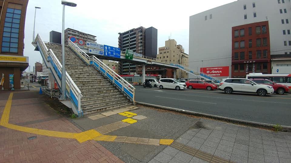 高知駅前歩道橋