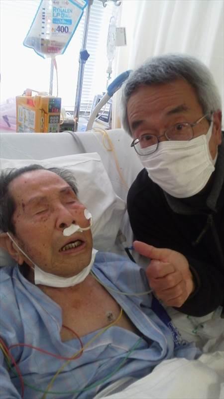 父との面会ICU