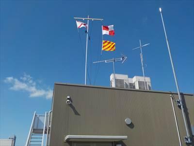 国際信号旗掲揚
