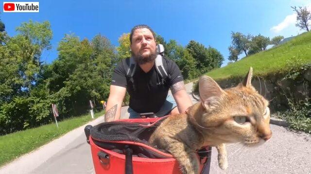 新たな旅立ちももうすぐ?自転車で猫と旅するヒゲメン、オーストリアでのサイクリングを満喫する